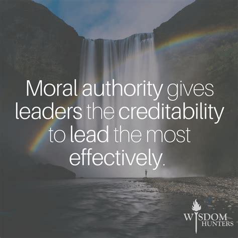 moral authority wisdom hunters