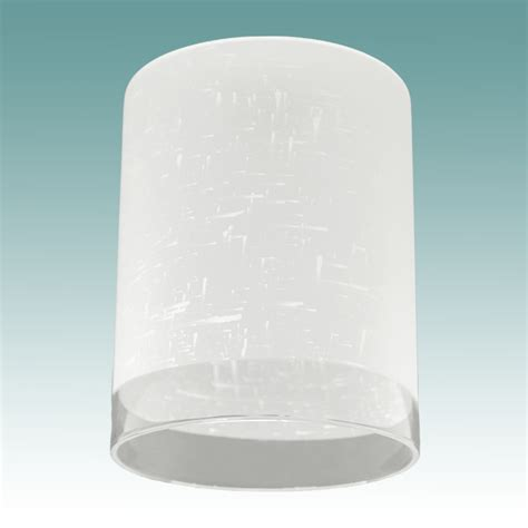 frosted clear cylinder neckless shade glass