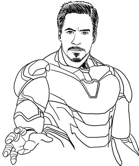 disegno  iron man  avengers endgame da colorare