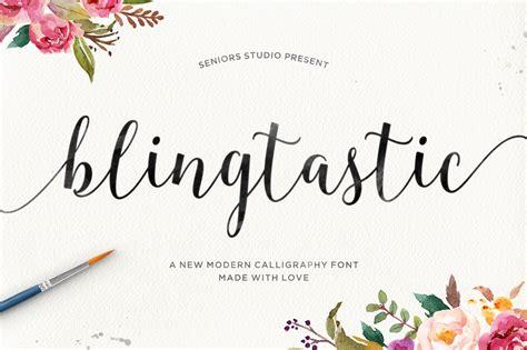 blingtastic script font  kreativ font