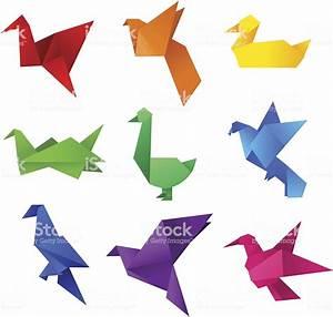 Origami Animaux Facile Gratuit : origami oiseaux cliparts vectoriels et plus d 39 images de ~ Dode.kayakingforconservation.com Idées de Décoration
