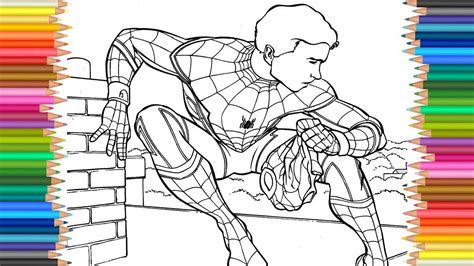 spider man homecoming coloring page  coloring markers   child  images