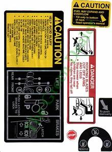 John Deere 318 Tractor Decal Kit