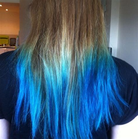 Best 25 Blue Dip Dye Hair Ideas On Pinterest Blue Dip