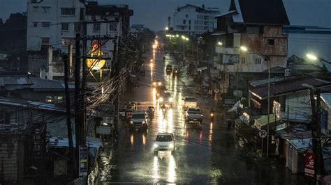 typhoon slams   philippines   york times