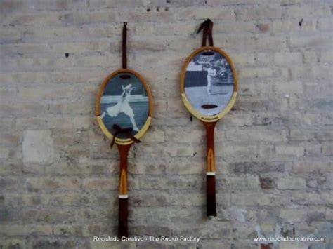 upcycling tennis racquets  wall decoration recyclart