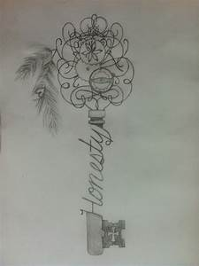 Skeleton key, tattoo sketch. Honesty Tattoos | tattoos ...
