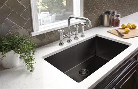 black stainless kitchen sink black stainless kitchen sinks for residential pros