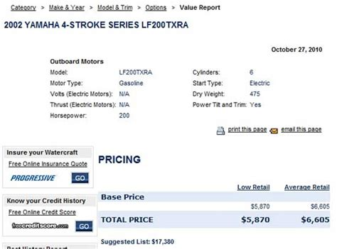 Boat Value Prices by Nada Outboard Motors Values Used Outboard Motors For