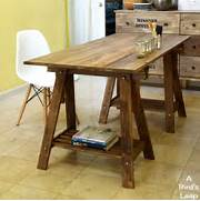 Bird 39 S Leap DIY Rustic Desk With Stained IKEA Legs Download Plans Rustic Tv Stand PDF Plans Wine Rack Cellar Look At Those Amazing Colors I Love Them All Equally Shh That Using The Plans Provide I Simply Changed The Measurements Needed For