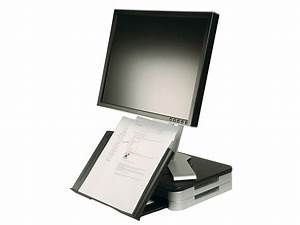 monitor stand with book document holder q connect With document holder for computer monitor