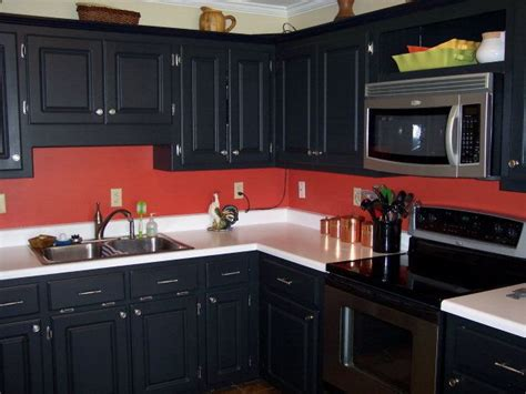 black cabinets red walls kathys red hot kitchen