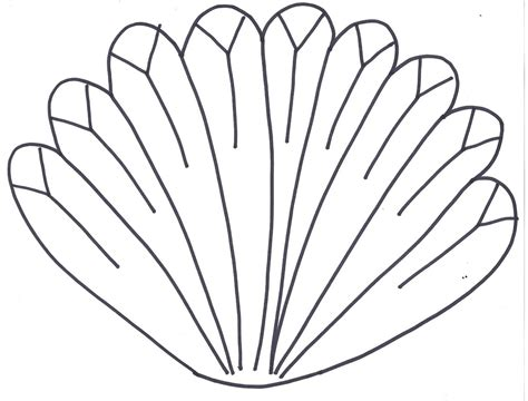 turkey template clipart turkey clipart feather template pencil and in color