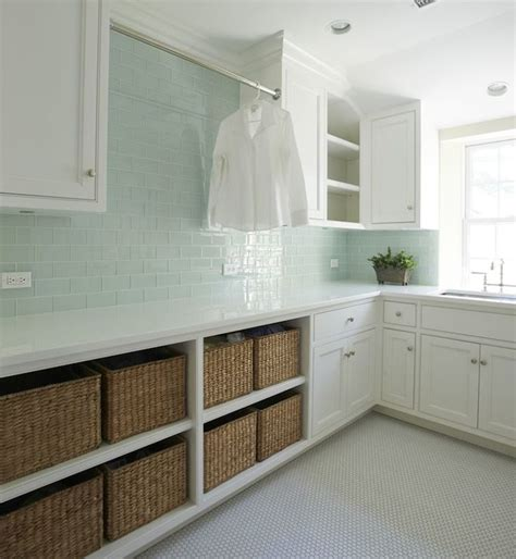 laundry room tile green glass subway tiles contemporary laundry room kelly deck design
