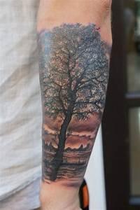 Realistic tree tattoo by graynd - Tattooimages.biz