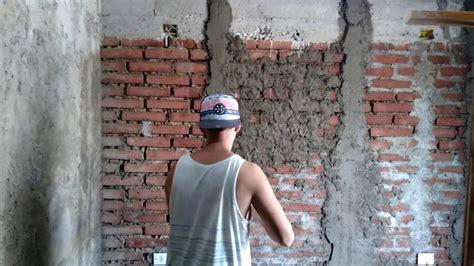 como estucar una pared de ladrillo fiscal youtube