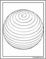 Coloring Pages Spiral Sphere Shape Printable Circles Spheres Colorwithfuzzy sketch template