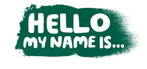 Hello, My Name Is  World's Biggest Coffee Morning