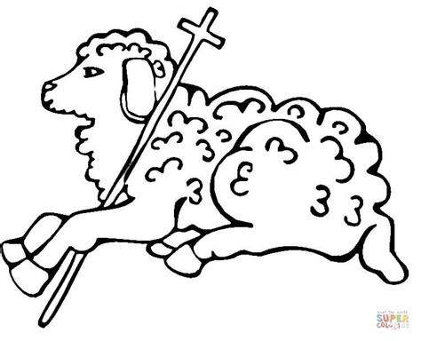 Christian Lamb Coloring Pages