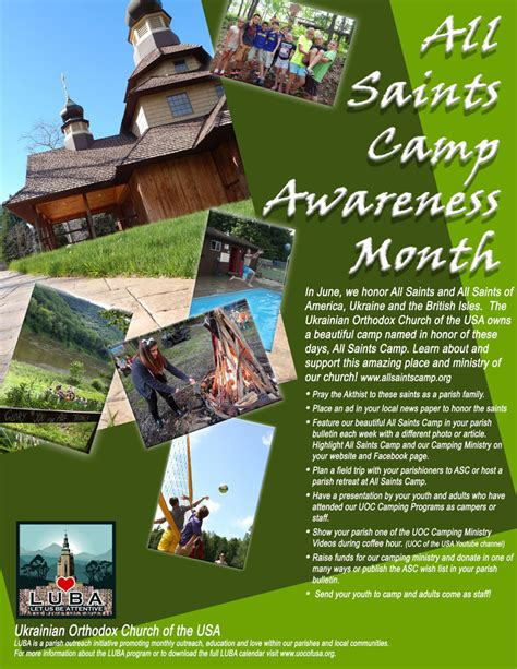 ukrainian orthodox church usa luba june saints camp