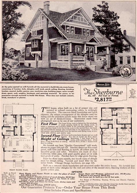 sherburne  sears modern homes kit houses  story craftsman style bungalow