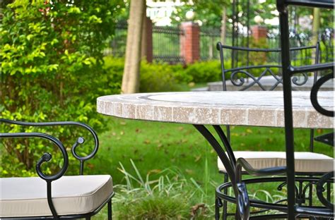 outdoor patio table stone marble mosaic mexico
