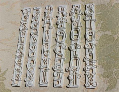 6pcs alphabet number letter cake decorating mold fondant autek 6pcs alphabet number letter fondant cake frill edge 60705