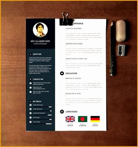28 minimal creative resume templates psd word ai 6 cover letter layout for resume free sles exles
