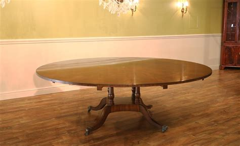 extra large round dining table large 64 88 inch expandable round mahogany dining table