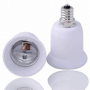 E12 To E27  E26 Candelabra Light Lamp Bulb Socket Base