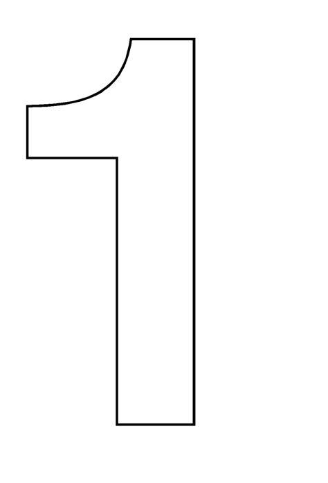 Coloriages à imprimer : Chiffre un, numéro : 2825