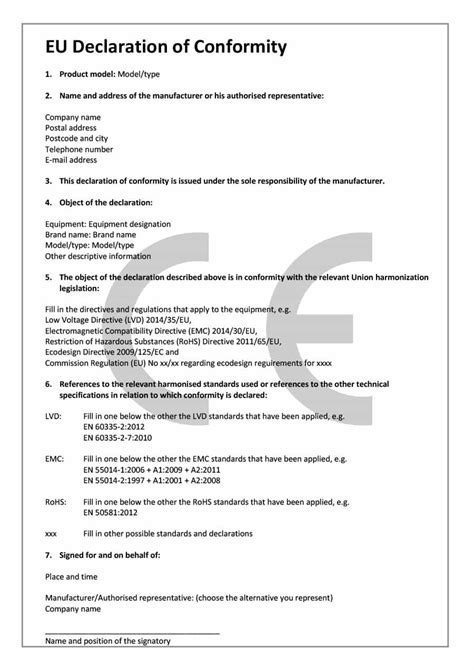 ce self certification template 40 free certificate of conformance templates forms
