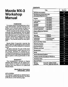 Mazda Mx3 1993-1998  Service  Repair Manual