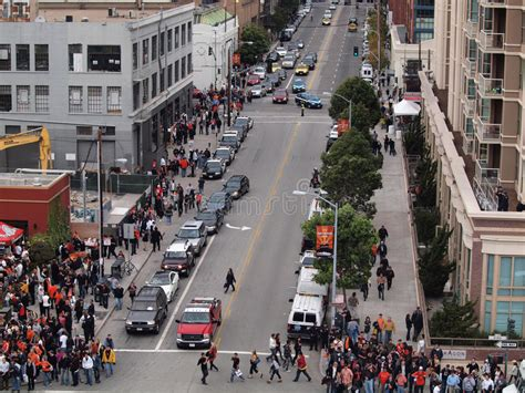 crowd  people walk  sidewalk  world series