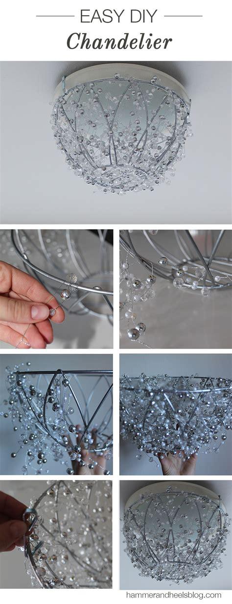 diy crystal chandelier  sparkle   home  created