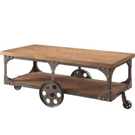 rustic industrial table l coaster industrial modern coffee table in rustic brown