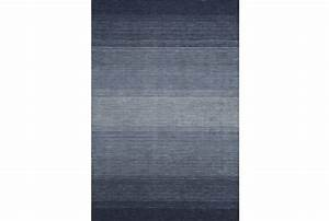 60X87 Rug-Ombre Navy - Living Spaces