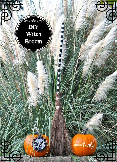 diy witch broom  life lovely