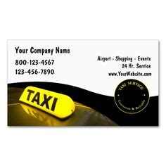 limo taxi business cards images business cards