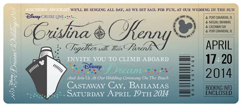 disney cruise wedding invitations  great heights paper