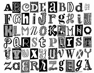 Different styles of bubble letters different types of for Different kinds of alphabet letters