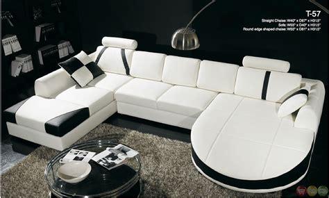black and white sectional sofa divani casa black and white leather sectional sofa dual