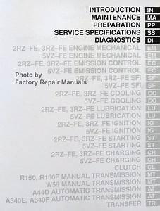 2001 Toyota Tacoma Truck Factory Service Manual Set