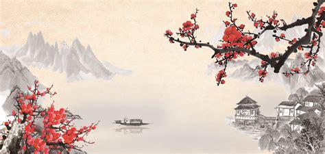Asiatische Bilder Kunst by Wind Rhyme Ink Painting Plane Advertising Ancient