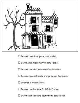 french halloween worksheets  activities  tchrbrowne tpt