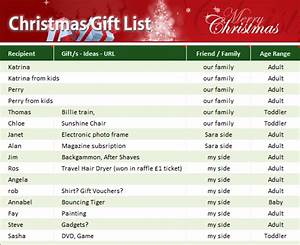 Project Pipeline Management Christmas Gift List My Excel Templates