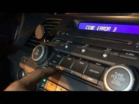 honda radio unlock code serial number reset