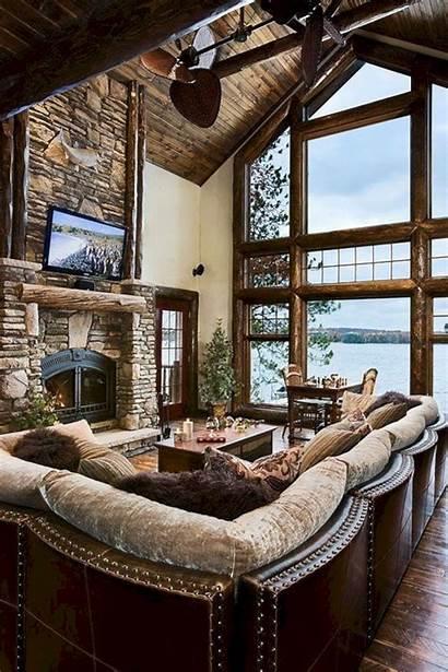 Rustic Cabin Living Cozy Rooms Superb Freshouz