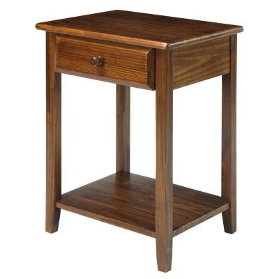 10 Inch Nightstand by Solid Wood Nightstands Bedroom Furniture The Home Depot