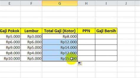 Artikel ini memberikan contoh slip gaji karyawan tanpa excel yang akan membantu kamu menghitung gaji karyawan setiap bulan tanpa repot. Tutorial Belajar Excel - Cara Menghitung Gaji Karyawan Plus PPN - YouTube